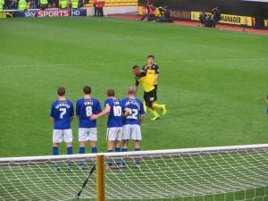McGugan takes a free-kick