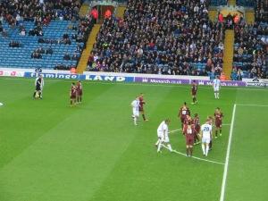 Leeds line up a free kick