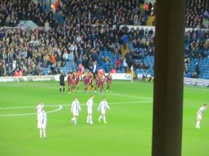Celebrations after the second goal