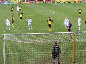 McGugan lining up the penalty