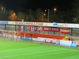 Crawley flags in the Winfield stand