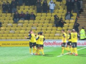 McGugan receives the congratulations of his team mates