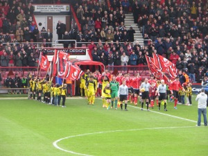 The teams emerge