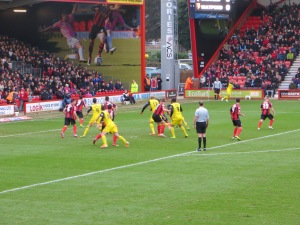 McGugan delivers a corner