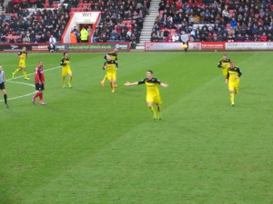 Angella celebrating his goal