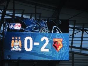 The half-time score