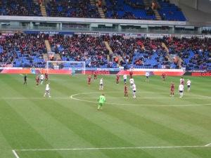 Bogdan launches a free-kick