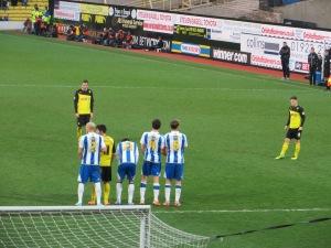 Tozser lining up a free kick