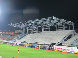 The construction of the East Stand is progressing