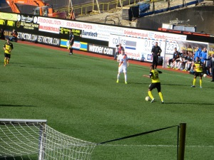 Doyley on the ball