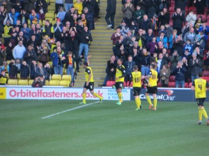 Deeney celebrating