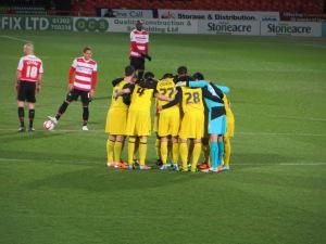 Pre-match huddle