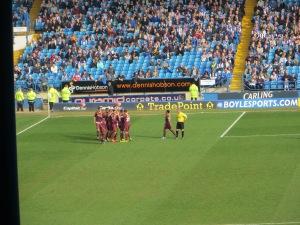 McGugan congratulated after scoring