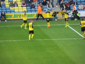 McGugan celebrating his goal