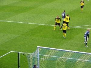 Celebrating Adbi's Goal