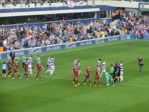 Taking the field at Loftus Road
