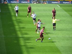 Indicating a free-kick