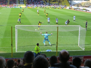 Deeney hits the penalty