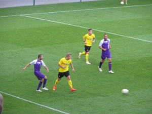 Vydra on the attack