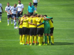 First huddle of the new season