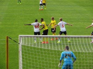 Deeney and Vydra in striking position