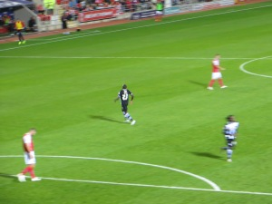 Dyer on his way to 'celebrate' his goal