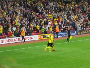 Tozser congratulated for a superb strike