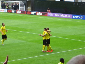 Deeney congratulated on his goal