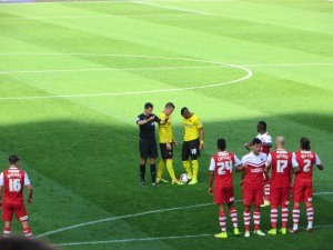 McGugan and Tozser line up a free kick