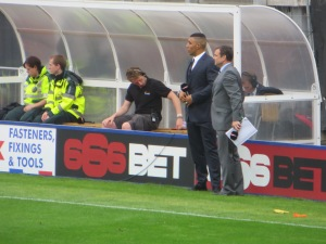 Troy on TV duty when we needed him on the pitch