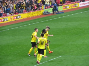 Cathcart congratulated on his goal