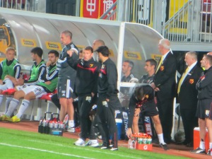 New gaffer McKinlay in the dugout