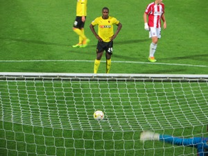 Ighalo steps up to take the penalty
