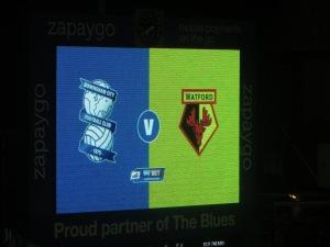 The scoreboard prior to kick-off