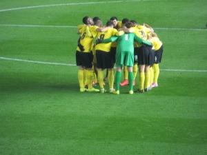 The pre-match huddle
