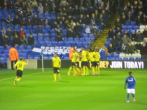 Celebrations following Forestieri's equalizer
