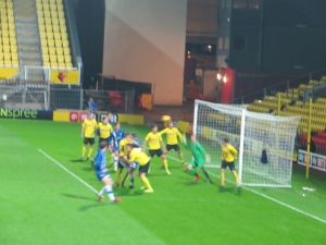 The corner that led to Gillingham's first goal