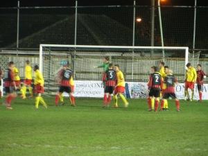 Watford defend a corner