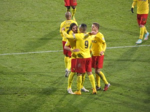 Munari and Abdi congratulate Deeney