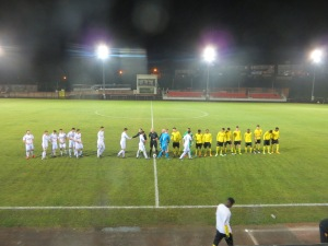The pre-match line-up