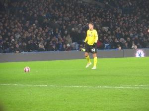 Abdi lines up a free-kick