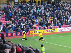 Ighalo celebrates with Harry Hornet