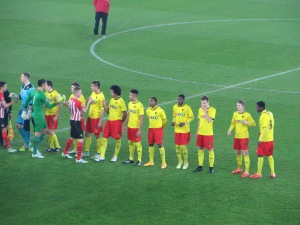 Pre-match formalities