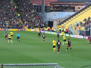 Deeney breaks forward