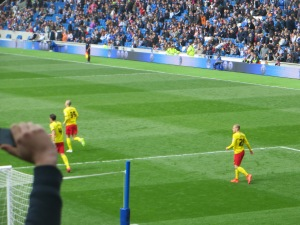Vydra runs back from celebrating his goal