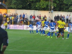 Abdi whips in a free kick