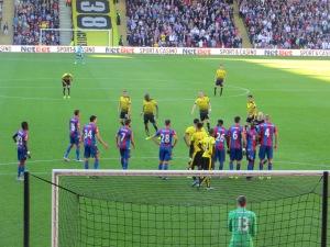Lining up a free kick