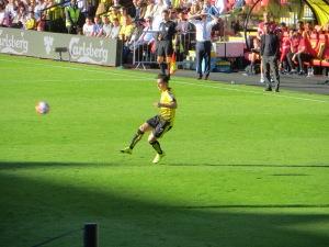 Jurado takes a free kick