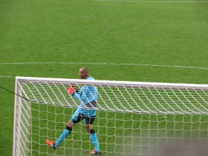 Gomes celebrating the second goal