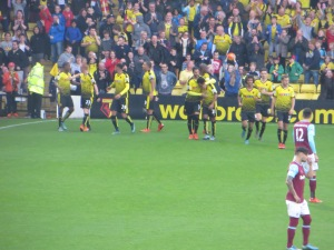 Congratulating Ighalo on his second goal